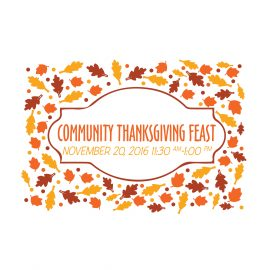 Thanksgiving Feast Tickets On Sale Now