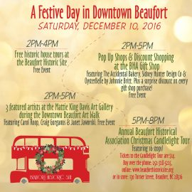 A Festive Day in Downtown Beaufort