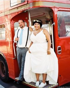 Bride on the bus