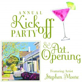 Kickoff Party & Art Opening Featuring Stephan Moore