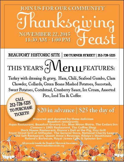 Community Thanksgiving Feast Tickets Available!