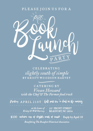 tickets are made available through the bha website to avoid additional fees from a third party ticket host - Launch Party Invitation
