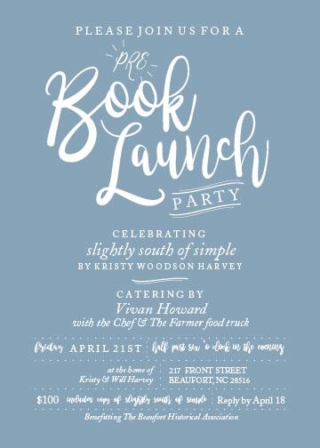 Book Launch Invite 01 Beaufort Historic Site