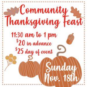 Community Thanksgiving Feast Tickets