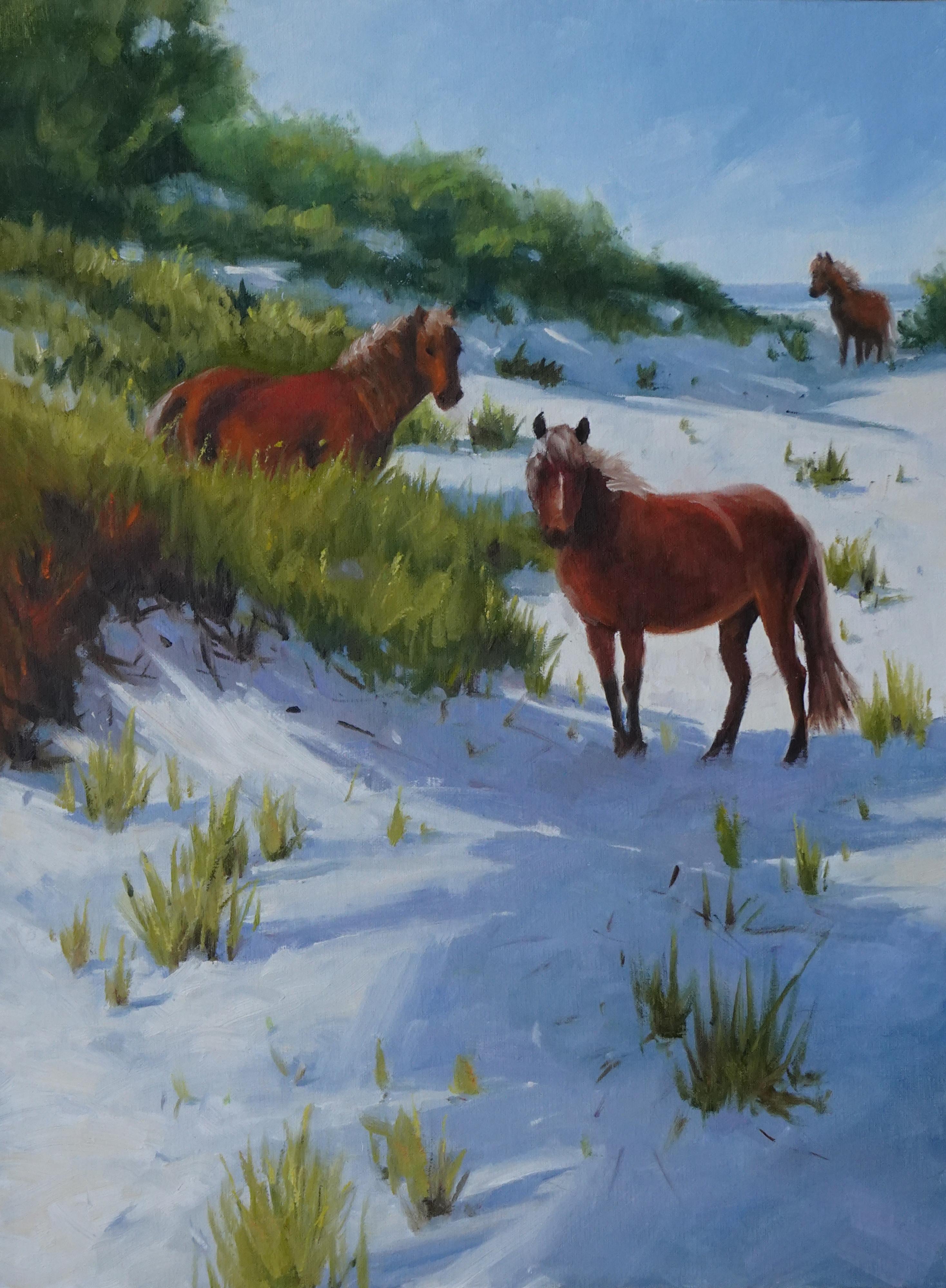 Pony Up, 16x12, Oil, $395